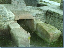 Hypocauste Jublains foyer exterieur